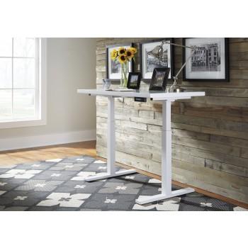 Baraga - White - Adjustable Height Desk