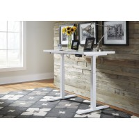Baraga - White - Adjustable Height Desk