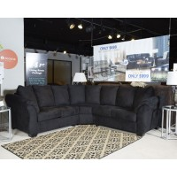 Darcy - Black - LAF Loveseat