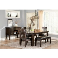 Haddigan - Dark Brown - 6pc with Bench