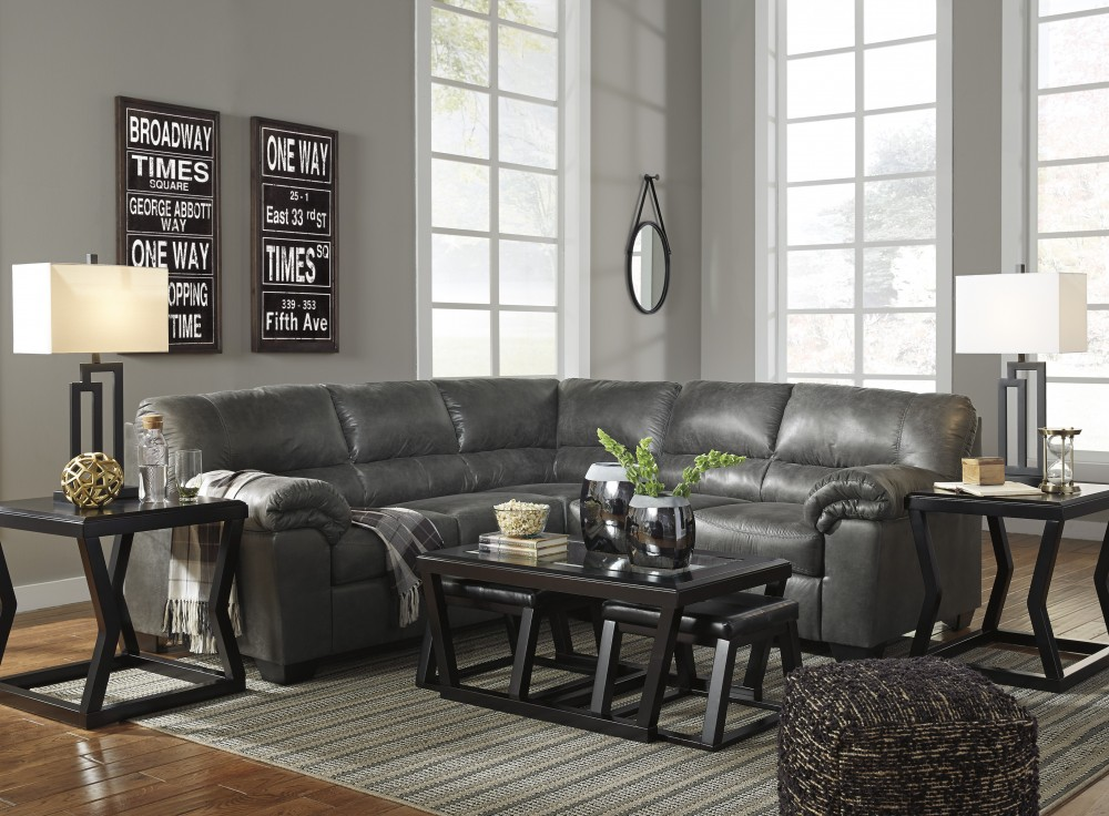 Bladen   Slate 2 Pc. LAF Sofa Sectional
