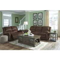 Goodlow - Chocolate Reclining Power Sofa & Loveseat