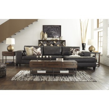 Nokomis - Charcoal 2 Pc. LAF Sofa Sectional