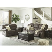 Cannelton - Tri-tone Gray Reclining Power Sofa & Loveseat