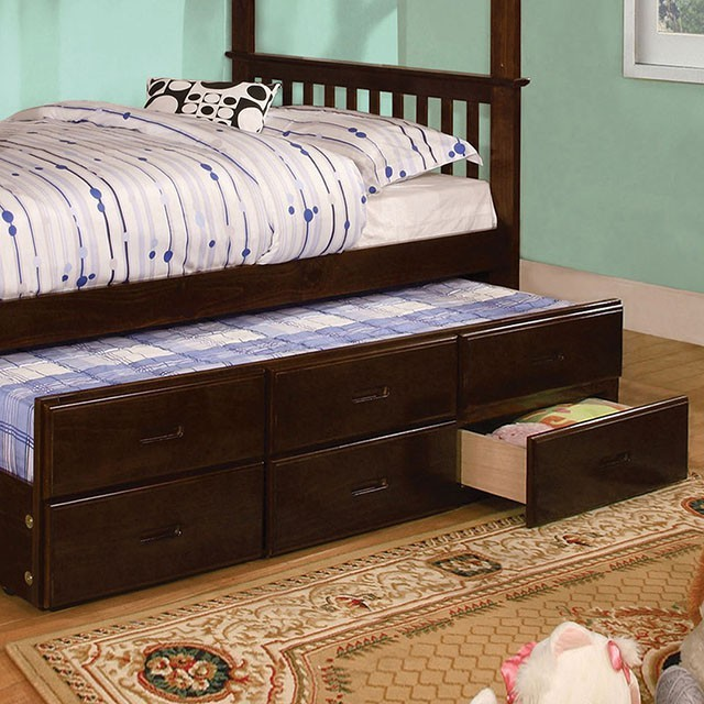 University Twin Trundle W 3 Drawers Cm Bk458ctr Exp Bunk Beds