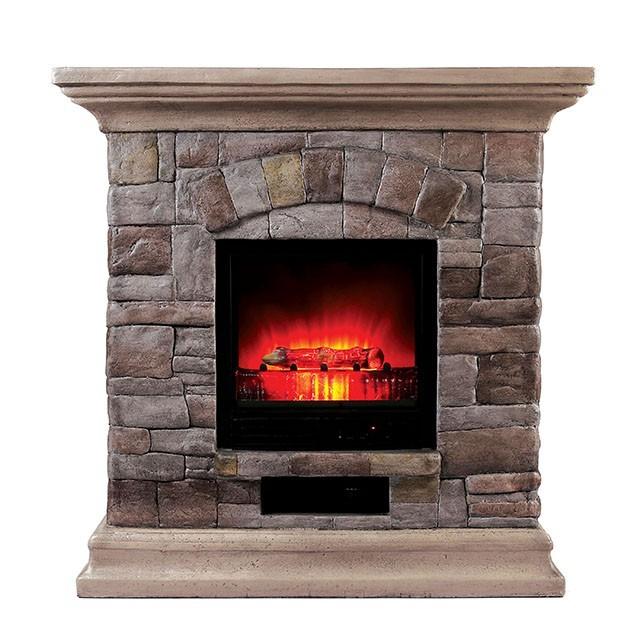 Juna - Faux Stone Fireplace