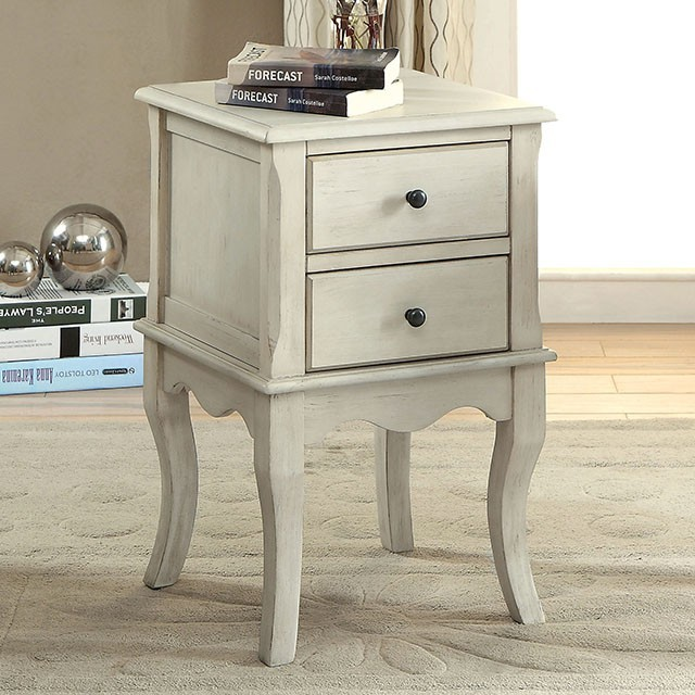 Delia Side Table Antique White Cm Ac161wh Chair Side Tables