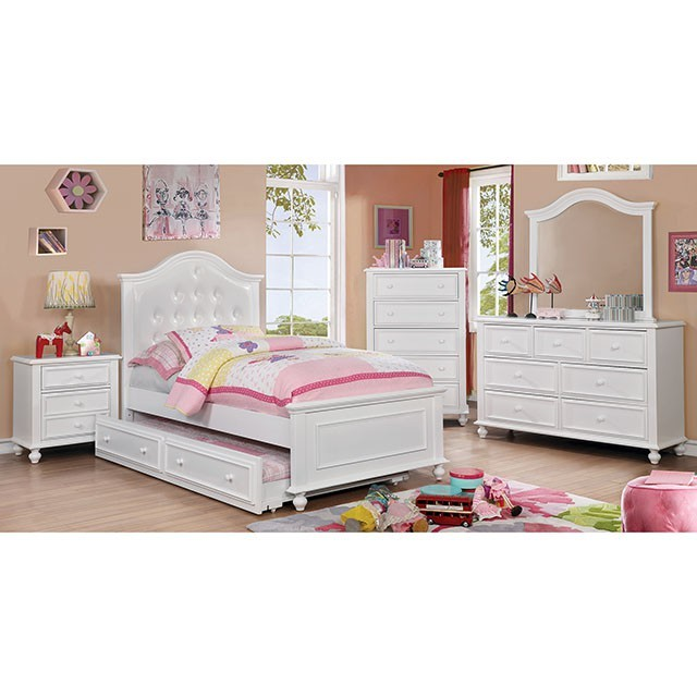Olivia Twin Bed Cm7155wh T Bed Bunk Beds Leslie S Furniture