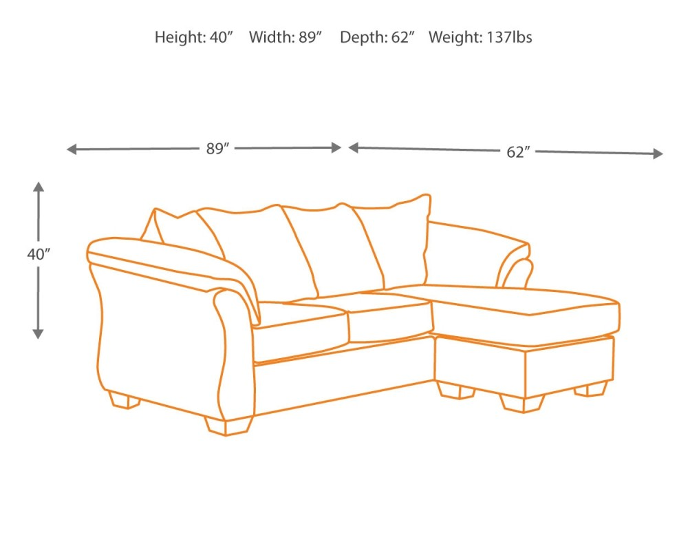 Enjoyable Darcy Blue Sofa Chaise Inzonedesignstudio Interior Chair Design Inzonedesignstudiocom