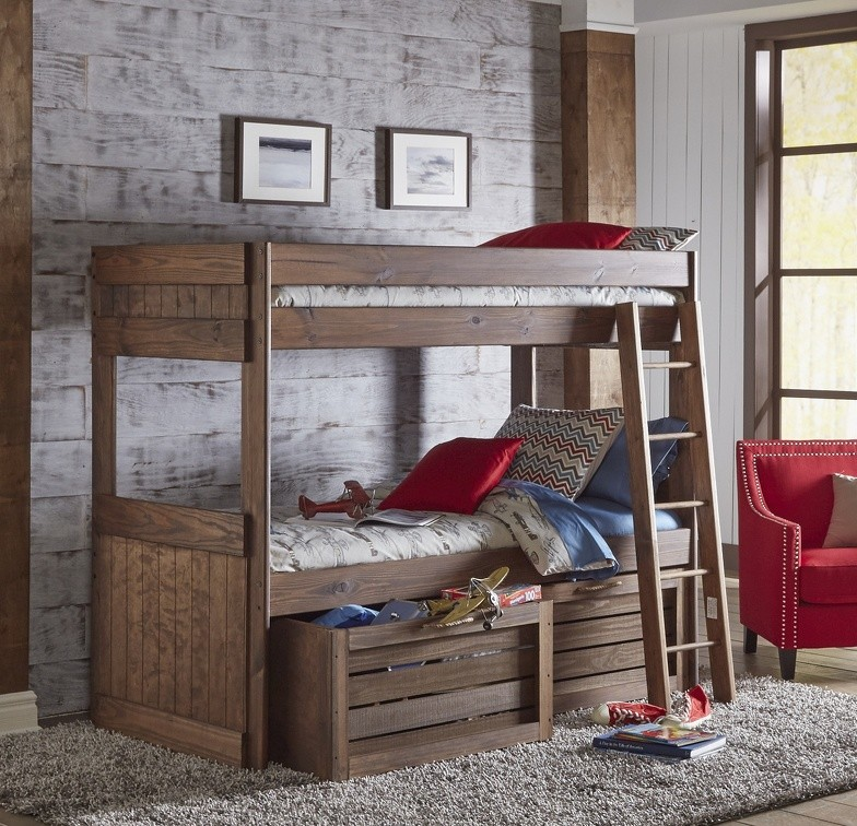 624 twin over twin bunk with storage
