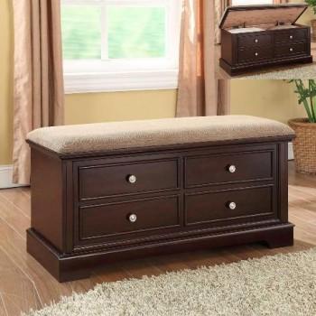 Cedar Storage Bench with Cushion Top