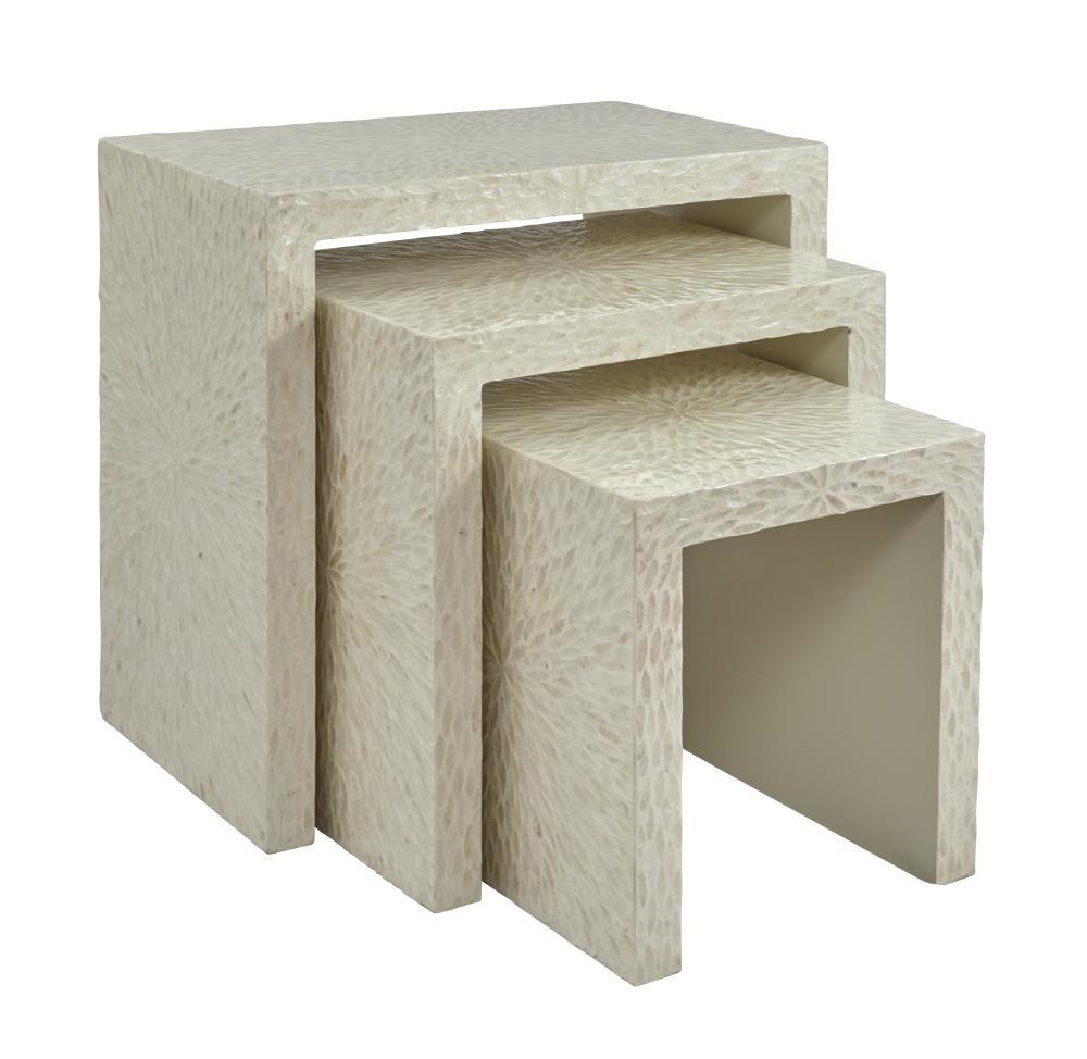 Global  sc 1 st  Pruitt\u0027s Fine Furniture & Global Archive Capiz Basket Weave Nesting Tables (set of 3 ...