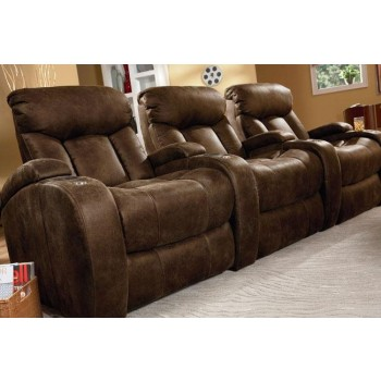 Lane 3pc. Bonded Leather Theater Seating with Tray