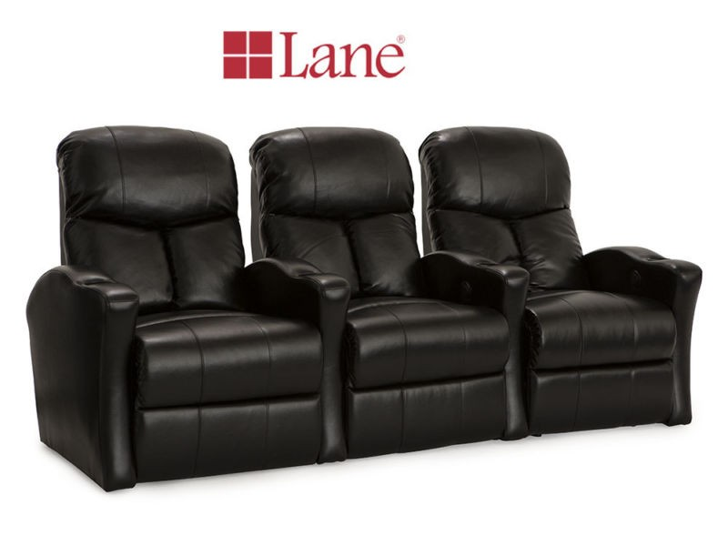 Lane 3pc. Bonded Leather Theater Seating with Cup Holder