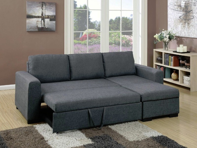 Full Size Sofa With Pullout Bed And Storage