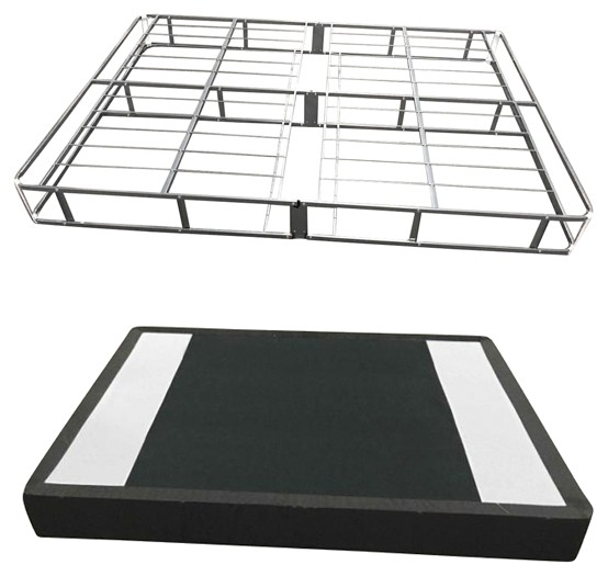7 Inch Easy Open Boxspring - White - King Foundation