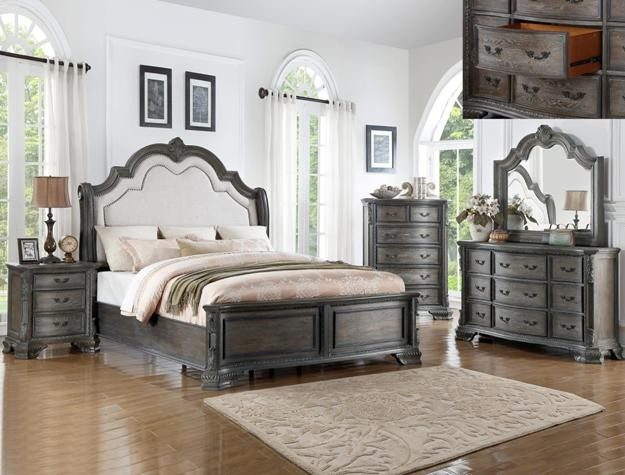 Crown Mark B1120 Sheffield Antique Grey Bedroom Group | B1120 ...