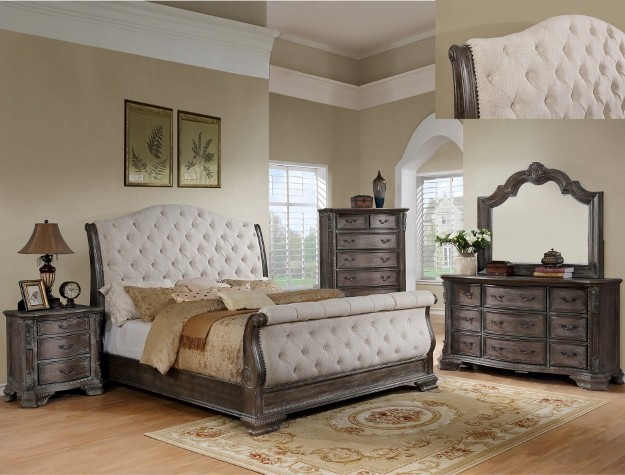 B1120-88 Sheffield Antique Grey Sleigh Bedroom Group | B1120-88 ...