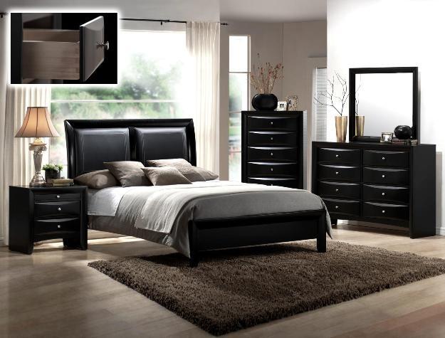 Crown Mark Farrow Queen Bedroom Group: Crown Mark B4280 Queen Emily Black Bedroom Suite