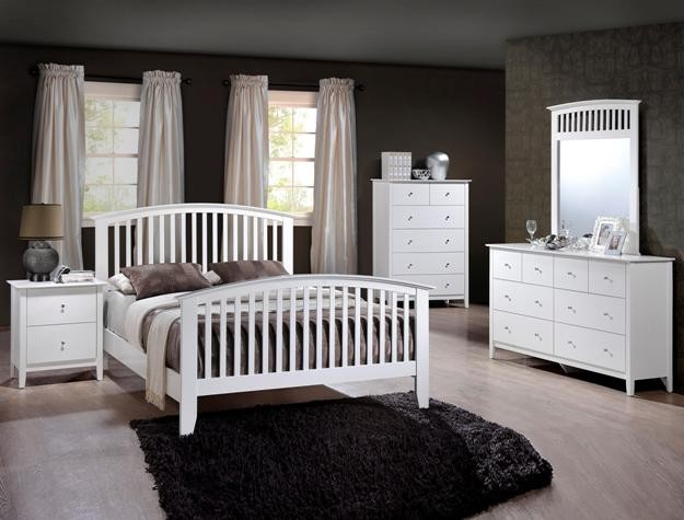 Crown Mark B7500 Lawson White Queen Bedroom Suite