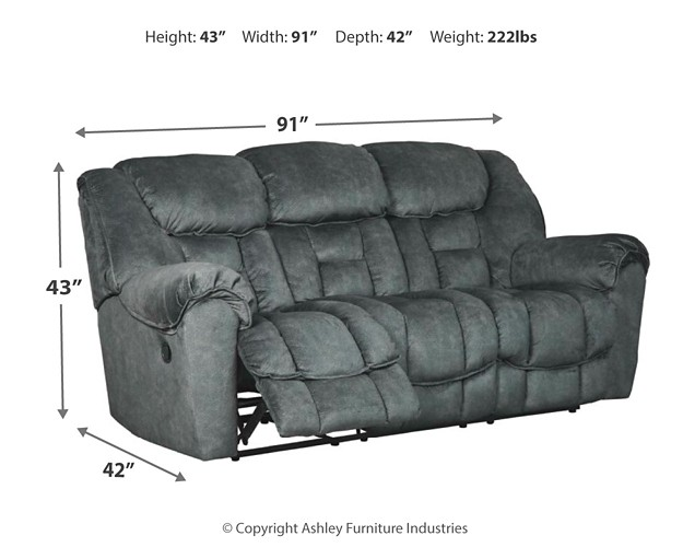 Capehorn Granite Reclining Sofa Reclining Sofas