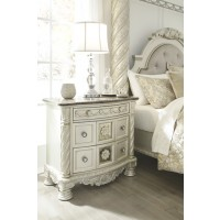 Cassimore - Pearl Silver - Three Drawer Night Stand