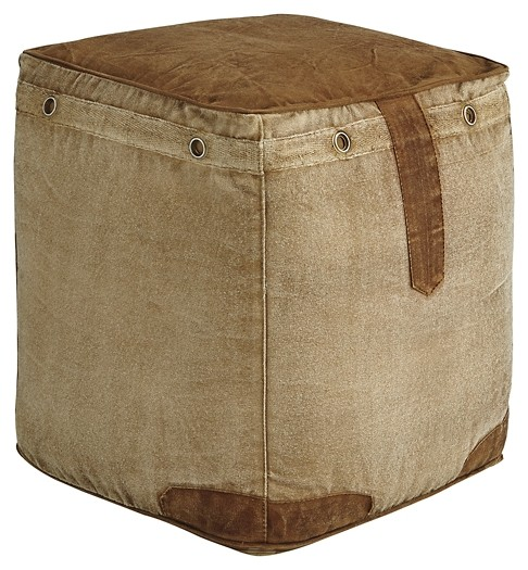 Cinnamon - Natural - Pouf