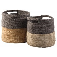 Parrish - Natural/Black - Basket Set (2/CN)
