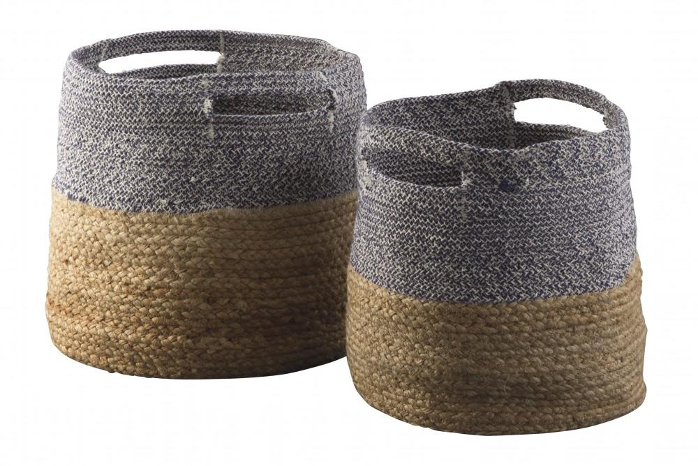 Parrish - Natural/Blue - Basket Set (2/CN)