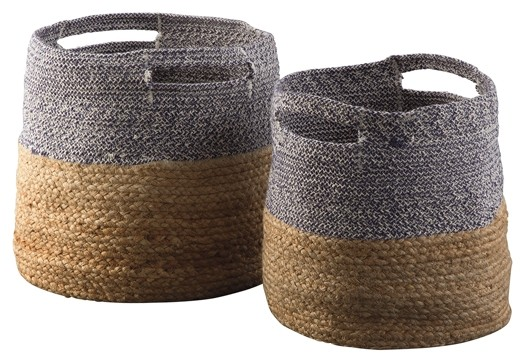 Parrish - Natural/Blue - Basket Set (2/CN)