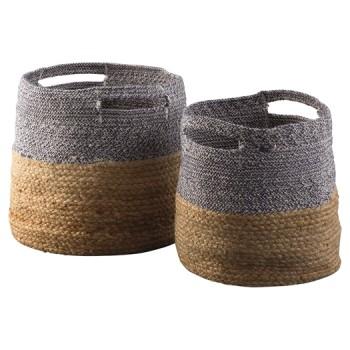 Parrish NaturalBlue Basket Set 48CN A48000097 Baskets Inspiration Mcguire Furniture Rental Set