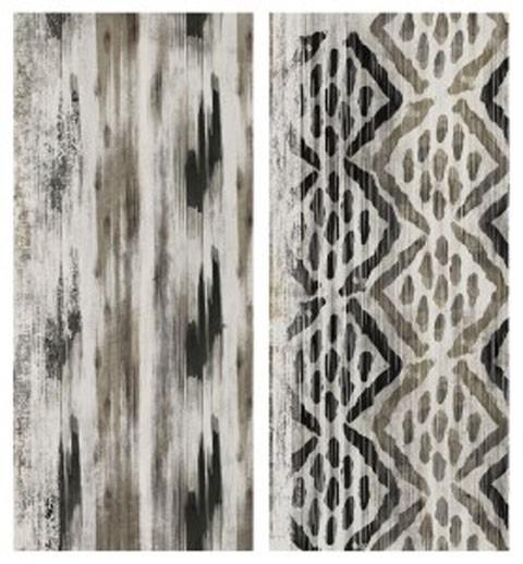Draper - Brown/Black - Wall Art Set (2/CN)
