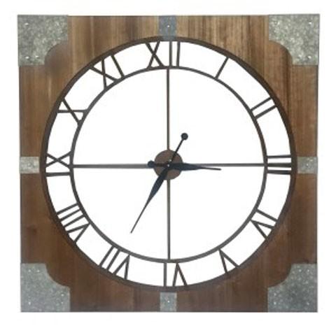 Palila - Brown/Silver Finish - Wall Clock