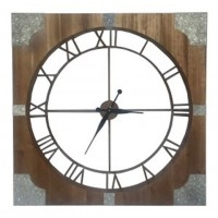 Palila - Brown/Silver Finish - Wall Clock