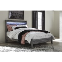 Baystorm - Gray - Queen Panel Footboard w/ Rails