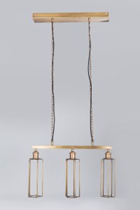 Hilary brass finish metal pendant light 1 cn