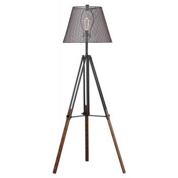 Leolyn - Black/Brown - Metal Floor Lamp (1/CN)