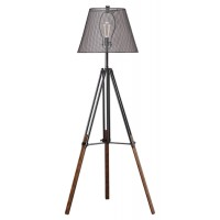 Leolyn - Black/Brown - Metal Floor Lamp (1/CN)