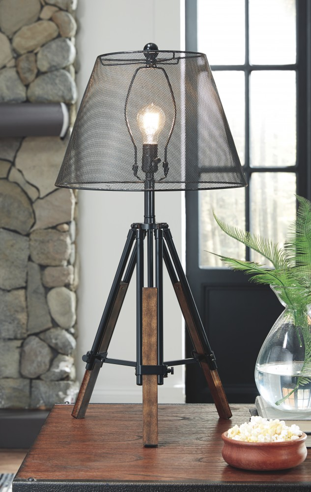 Leolyn Black Brown Metal Table Lamp 1 Cn L207994 Lamps