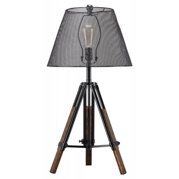 Leolyn - Black/Brown - Metal Table Lamp (1/CN)