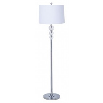 Joaquin clear chrome finish crystal floor lamp 1 cn lamps pruitts fine furniture