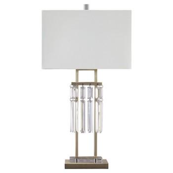 Megdalia - Clear/Brass Finish - Metal Table Lamp (1/CN)