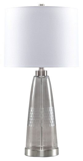 Larrance - Gray - Glass Table Lamp (1/CN)