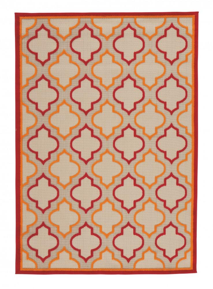 Jebediah - Red/Orange - Medium Rug
