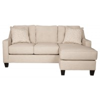 Aldie Nuvella - Sand - Sofa Chaise Queen Sleeper