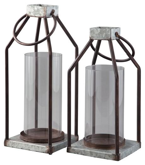 Diedrick - Gray/Black - Lantern Set (2/CN)
