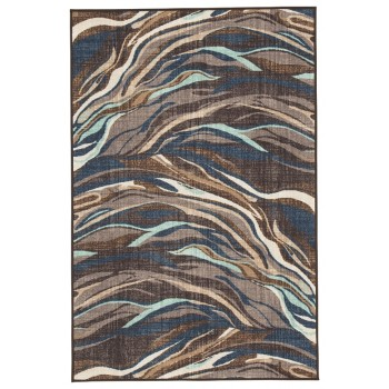 Jochebed - Blue/Brown - Medium Rug