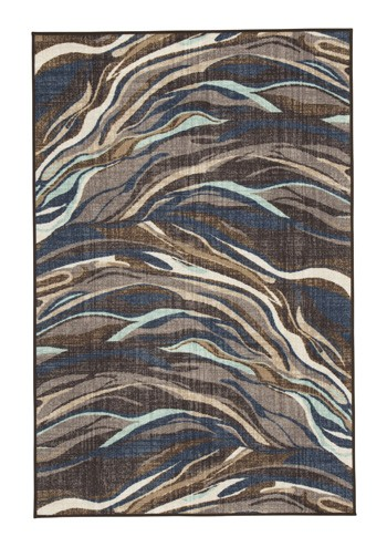 Jochebed Blue Brown Medium Rug R402792 Rugs