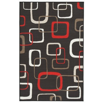 Johan - Black/Red - Medium Rug