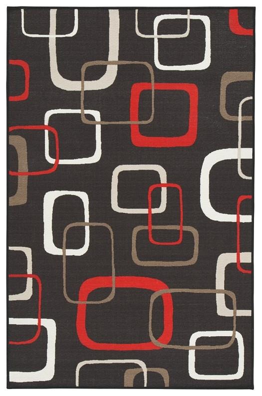 Johan - Black/Red - Medium Rug